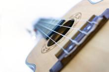 Brown Ukulele Hawaiian Guitar Isolated On White Background