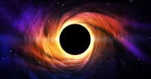 Black Hole In Galaxy Center (space)