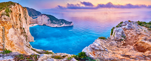 Navagio Beach with shipwreck view on Zakynthos island, Greece Slika na platnu