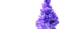 Abstract Form Purple Color Ink...