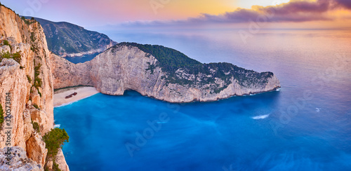 Fotografija Navagio Beach with shipwreck view on Zakynthos island, Greece