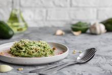 Green Pasta With Avocado, Spin...