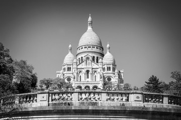The Basilica of the Sacred Heart in Montmartre, Paris France
