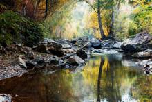 Rocks In Creek Or Stream Flowi...