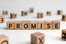 Promise - Words From Wooden Bl...