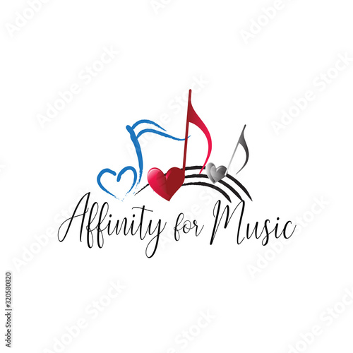 affinity of music lettering typography design Canvas Print