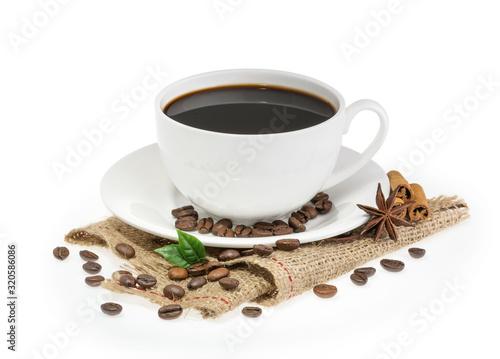 Fototapeta cup of coffee isolated obraz