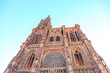 canvas print picture - Strasbourg, France. Strasbourg Cathedral (the Cathedral of Our Lady of Strasbourg)