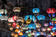 Colored Lantern Hanging At The...