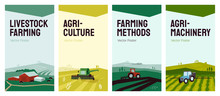 Set Of Banners With Agricultur...