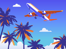 Flight By Plane Abroad For Rest