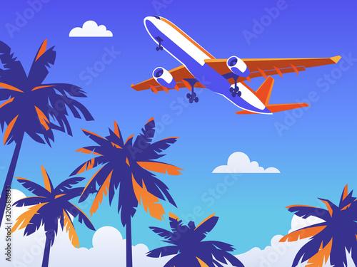 Plakaty samoloty   lot-samolotem-za-granice-na-odpoczynek