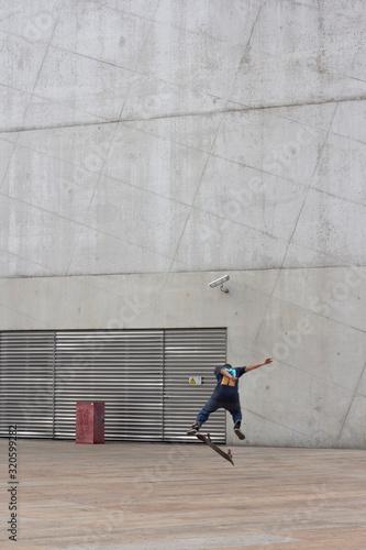 Street boy, skateboard Canvas Print