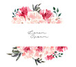 Leinwanddruck Bild - 8 March, Valentines day, Happy International Women's Day, spring.Watercolor flower pink rose banner. Wedding concept with flowers. Floral poster, invite.  arrangements for greeting card, invitation