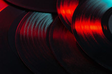 Vinyl Records Music Background...