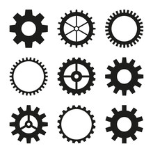 Set Of Vector Icons Of Gear Wh...