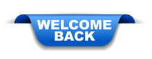 Blue Vector Banner Welcome Back