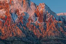 Winter Landscape Wilson Cliffs, Red Rock Canyon National Recreation Area, Las Vegas, Nevada, USA