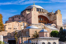 Hagia Sophia, Christian Patriarchal Basilica, Imperial Mosque And Museum At Istanbul, Turkey