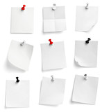 Fototapeta Kawa jest smaczna - note paper push pin message red white black