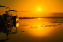 Sunrise Over Lake Bacalar With...