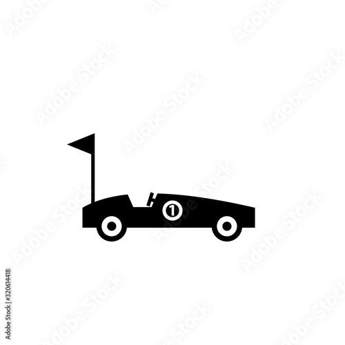 Soap box car silhouette icon Fotobehang