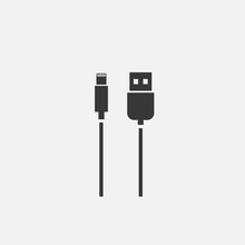Phone Charger Lightning Cable Icon