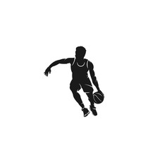 Basketball Player Silhouette L...