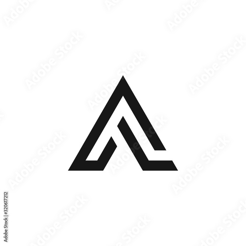 Photo al letter vector logo abstract
