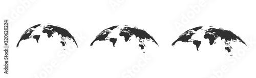 Cuadros en Lienzo World map globe. Vector illustartion