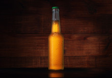Small Yellow Bottle With Beer