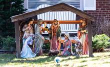 Christmas Nativity Scene On Fr...