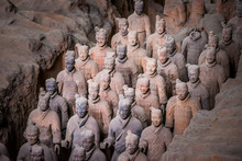 Qin Shi Huang's Tomb, Terracotta Soldiers.The Terracotta Army,  Xi'An, Shanxi, China.