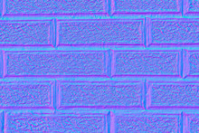 Wall With Large Rectangles In Normal Map