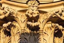 Säulenkopf An Einer Kirche In...