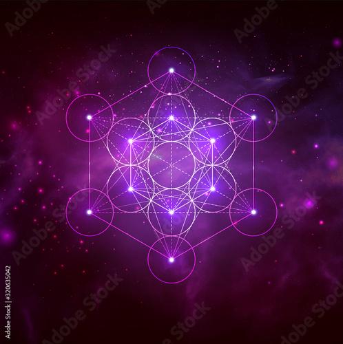 Mystical sacred geometry vector symbol. Spirituality, harmony Fototapete