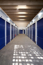 Inside Industrial Self Storage...