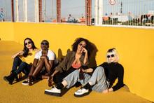 Serious Youthful Multiracial F...
