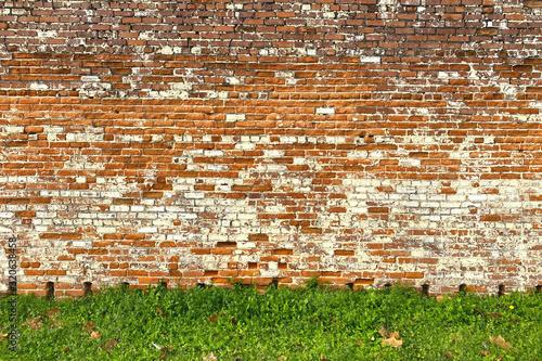 old red brick garden estate wall
