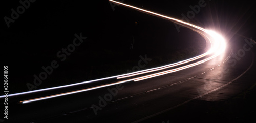 lights of cars with night. long exposure Tableau sur Toile
