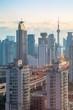 View of Shanghai skyline at sunrise, Luwan, Shanghai, China