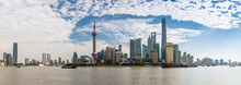 View Of Pudong Skyline And Huangpu River From The Bund, Shanghai, China