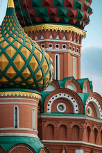 Exterior Detail Of St. Basil's Cathedral, Red Square, Moscow, Moscow Oblast, Russia