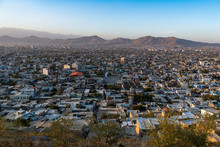 View Over Kabul At Sunset, Afghanistan