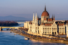 The Hungarian Parliament On Th...