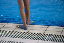 Close Up Human Legs Swimmer Fi...
