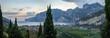 panoramatic view of Lago di Garda in Italia