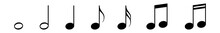 Music Notes Icon Black | Note ...