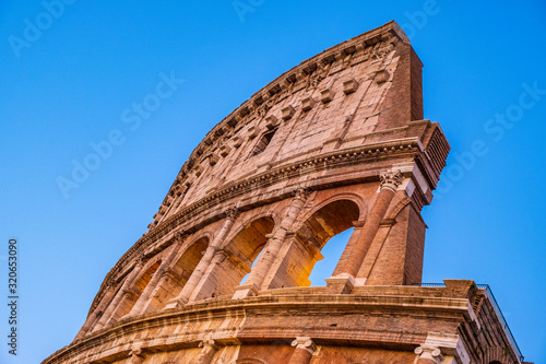 Rome, Italy - External walls of the ancient roman Colosseum - Colosseo - known a Tapéta, Fotótapéta