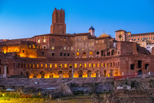 Rome, Italy - Evening View Of ...